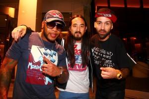 DJ ENTICE, Flo-Rida, & Steve Aoki