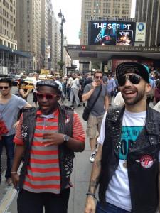 DJ ENTICE & DJ NASTY ON SET IN NYC